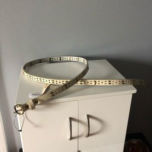 Free People Kiera thin diamond stud belt S/M